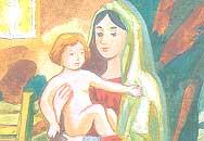 Дева мария и младенец Иисус