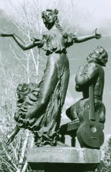 «Очарованный странник». Фрагмент памятника Н.С. Лескову.