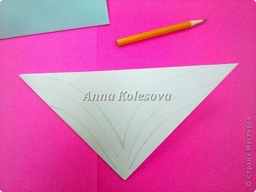 Мастер-класс 8 марта Новый год Оригами Объемные снежинки-цветок Бумага фото 6