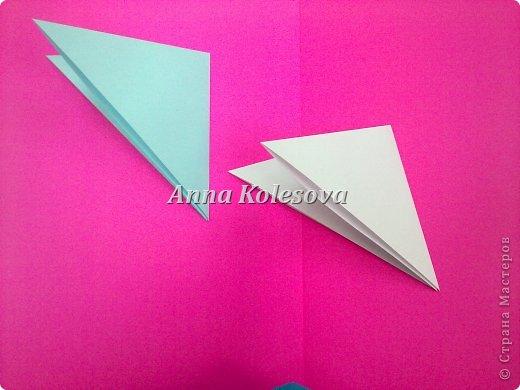 Мастер-класс 8 марта Новый год Оригами Объемные снежинки-цветок Бумага фото 5