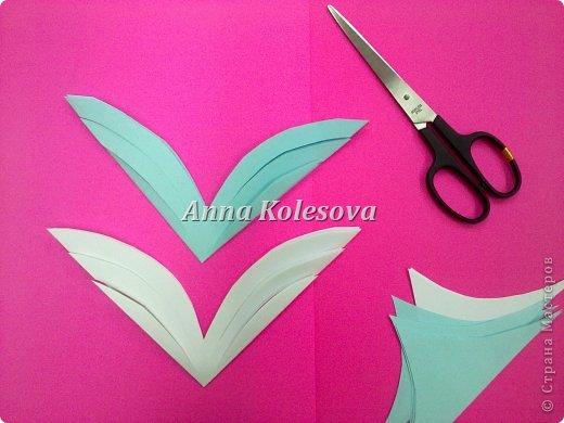 Мастер-класс 8 марта Новый год Оригами Объемные снежинки-цветок Бумага фото 7