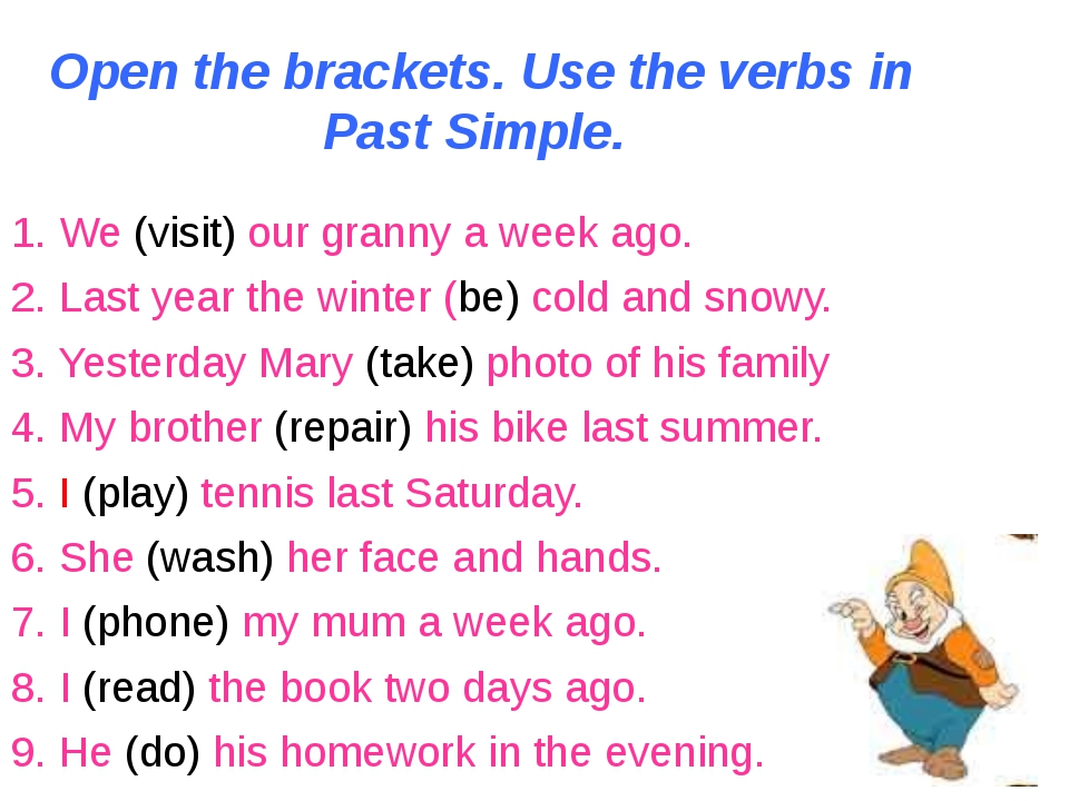 english language simple past verb Learn when to use the past simple or the past continuous although both tenses speak about the past, they are used in different ways it is important to learn how to use the simple past and the past continuous.
