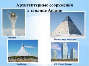 Дворец мира и согласия Архитектурные сооружения в столице Астане Байтерек Хан