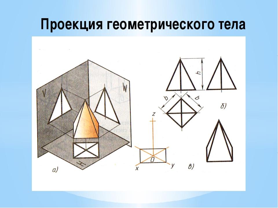 Проекция геометрического тела