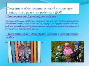 Создание и обеспечение условий социально-личностного развития ребенка в ДОУ Э
