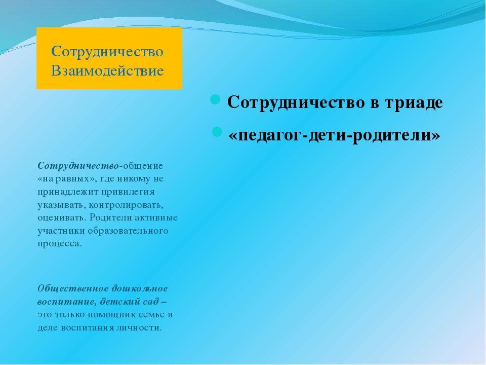 Сотрудничество-общение «на равных», где никому не принадлежит привилегия указ...