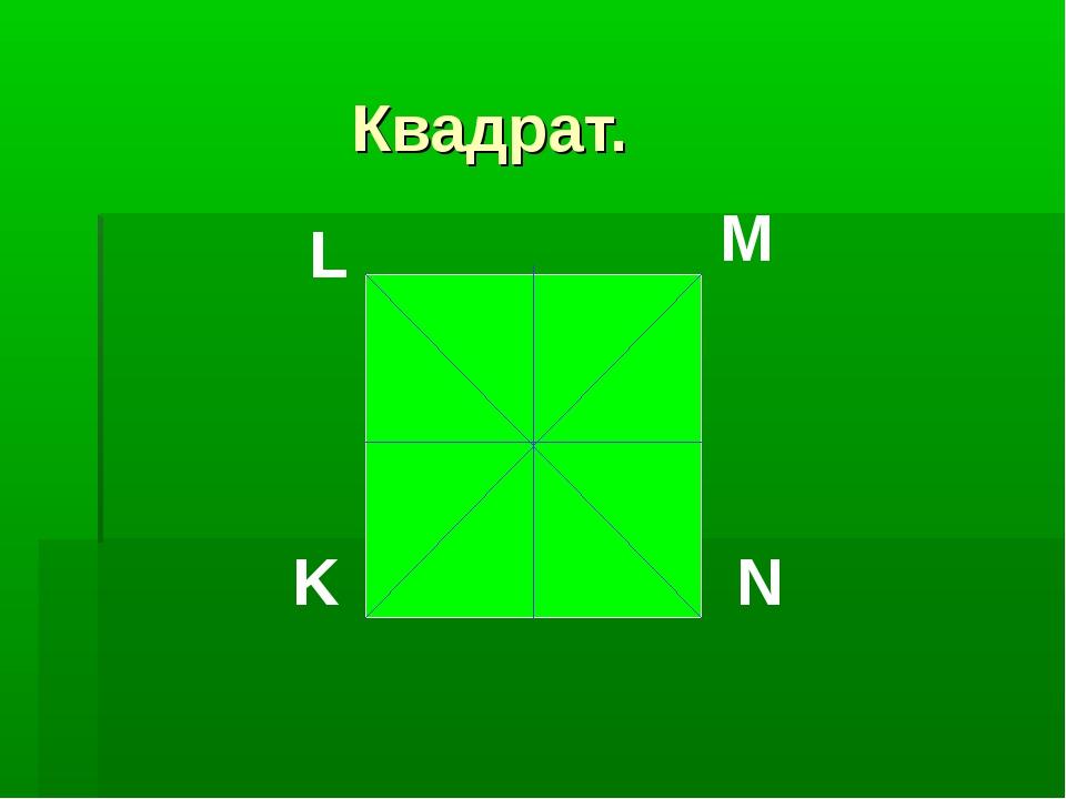 Квадрат. K L M N