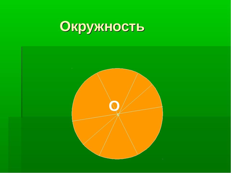Окружность O