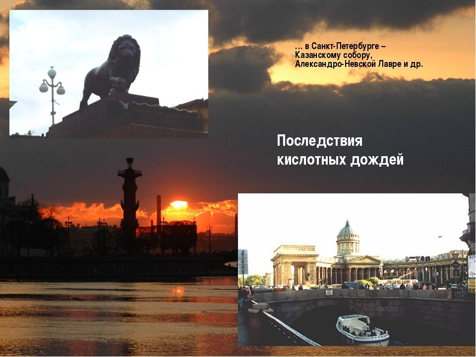 Последствия кислотных дождей … в Санкт-Петербурге – Казанскому собору, Алекса...