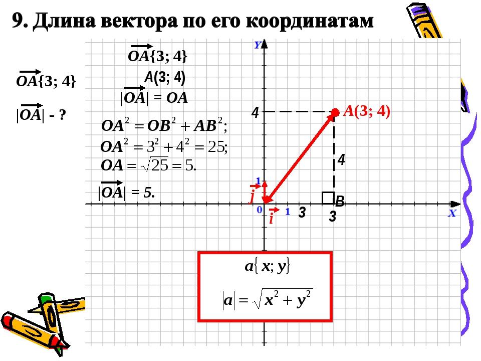 A(3; 4) A(3; 4) 3 4 B 3 4