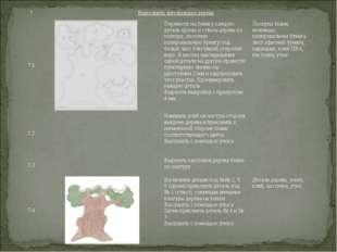 7Выполнить аппликацию дерева 7.1Перевести на бумагу каждую деталь кроны и