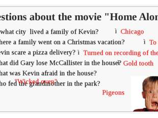 "Questions about the movie ""Home Alone"" In what city lived a family of Kevin?"