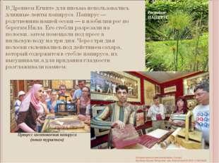 Процесс изготовления папируса (показ туристам) Растение ПАПИРУС История книги