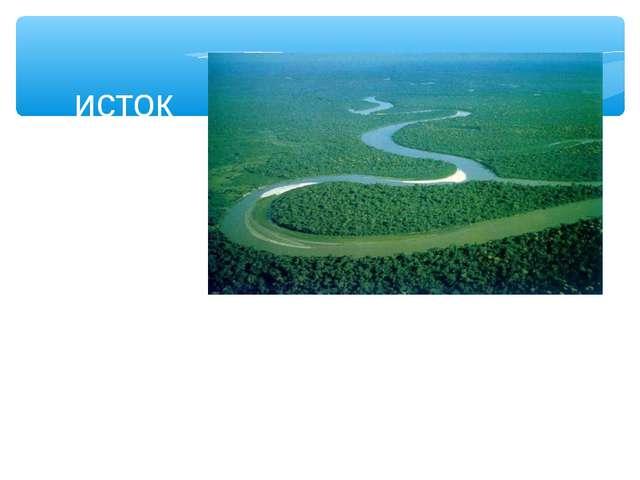 устье русло исток Речная система водораздел
