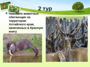 2 тур Назовите животных обитающих на территории Алтайского края, занесенных в
