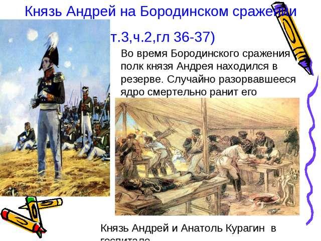 Князь Андрей на Бородинском сражении (т.3,ч.2,гл 36-37) Во время Бородинского...
