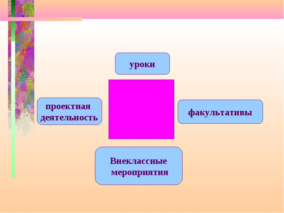 уроки факультативы Внеклассные мероприятия проектная деятельность