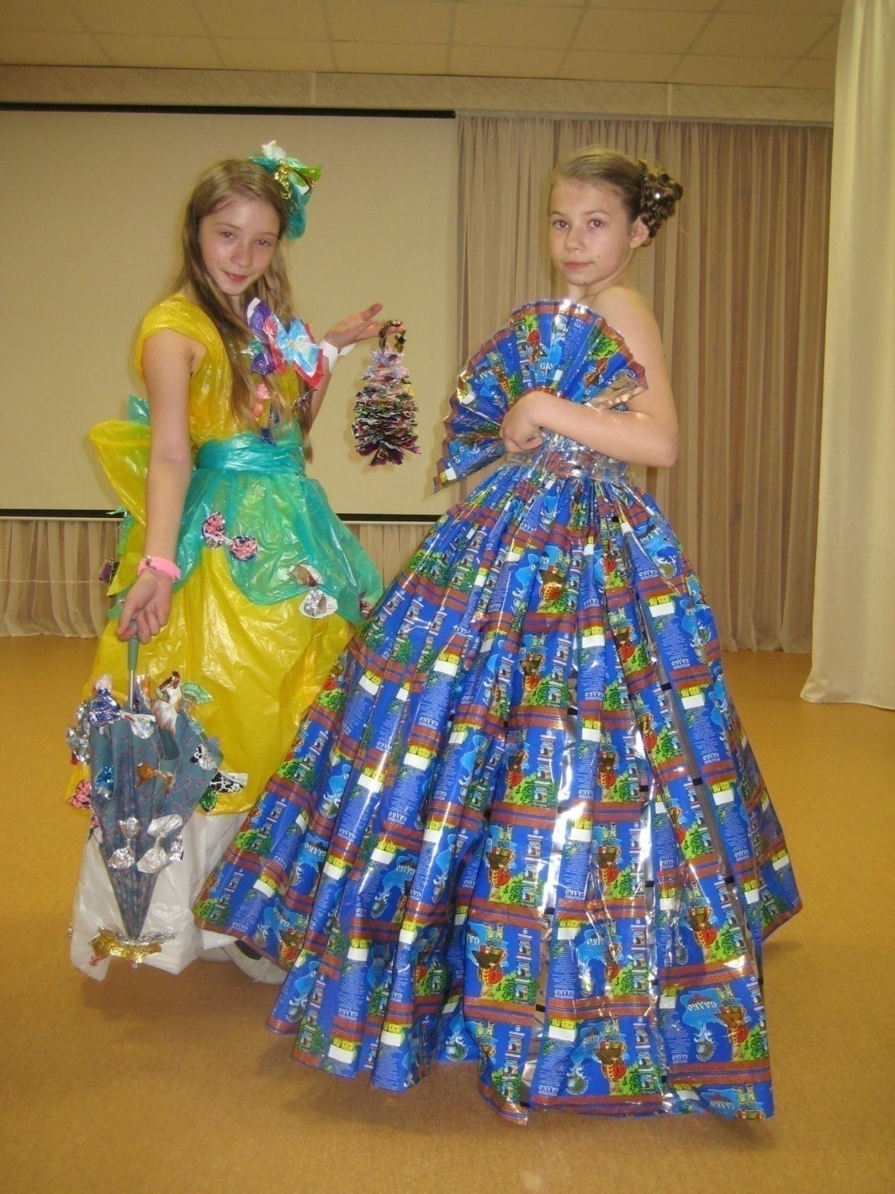 Описание платья из бумаги на конкурс 61