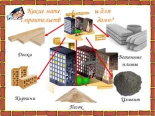 Какие материалы нужны для строительства городского дома? Кирпичи Песок Цемен