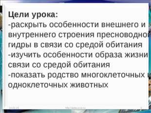 * http://aida.ucoz.ru * Цели урока: -раскрыть особенности внешнего и внутренн