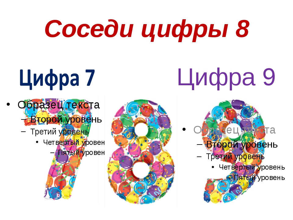 Соседи цифры 8 Цифра 9
