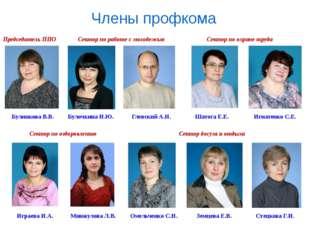 Члены профкома Председатель ППО Булинкова В.В. Булочкина Н.Ю. Глевский А.Н. З