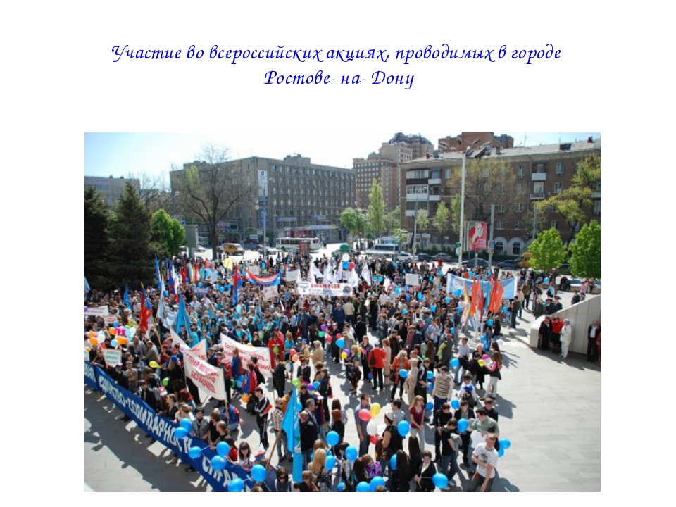Участие во всероссийских акциях, проводимых в городе Ростове- на- Дону