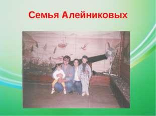 Семья Алейниковых