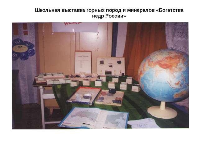 Школьная выставка горных пород и минералов «Богатства недр России»