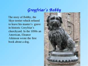 Greyfriar`s Bobby The story of Bobby, the Skye terrier which refused to leave