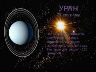 УРАН 27 спутника Это гигантская планета, состоящая из газа и жидкости. Год ра