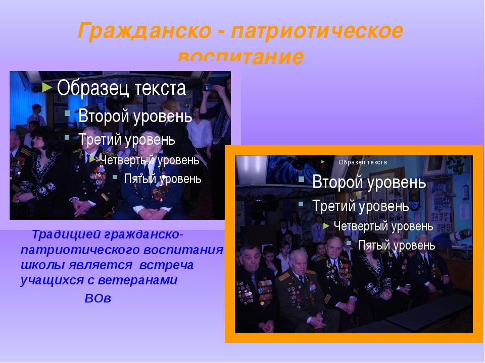 Гражданско - патриотическое воспитание Традицией гражданско-патриотического в...