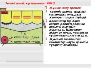 Роликті көкөніс жуу машинасы ММК-2: Жұмыс істеу ережесі көкөніс шанақ арқылы
