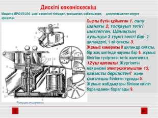 Машина МРО-50-200 шикі көкөністі тілімдеп, таяқшалап, сабаншалап, дөңгелекшел