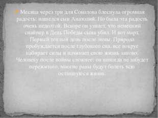Месяца через три для Соколова блеснула огромная радость: нашелся сын Анатолий