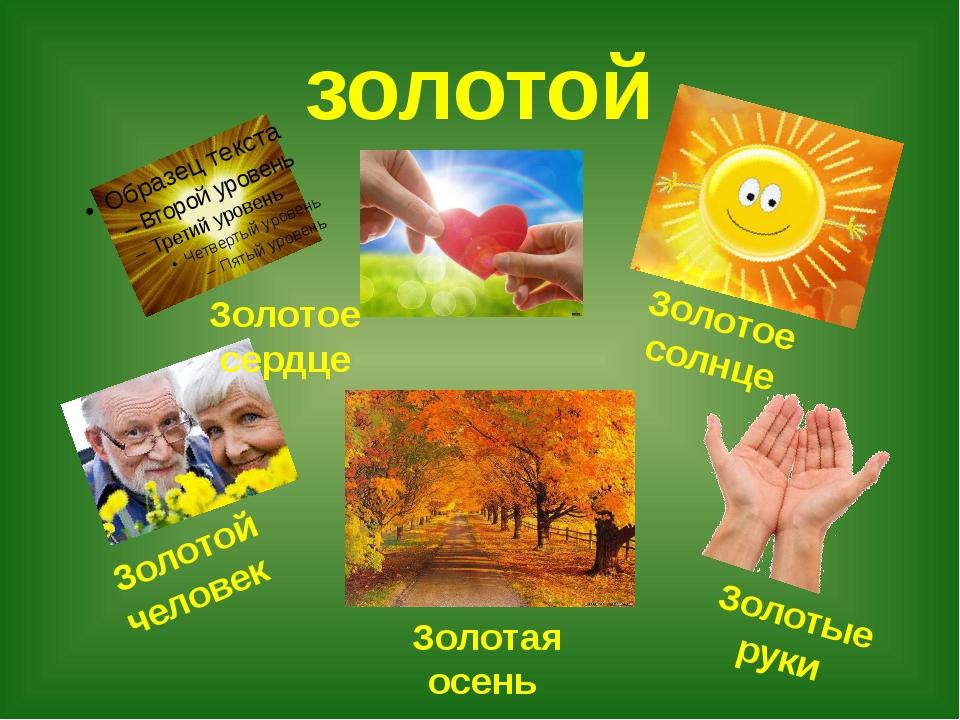 золотой Золотое сердце Золотое солнце Золотой человек Золотая осень Золотые р...