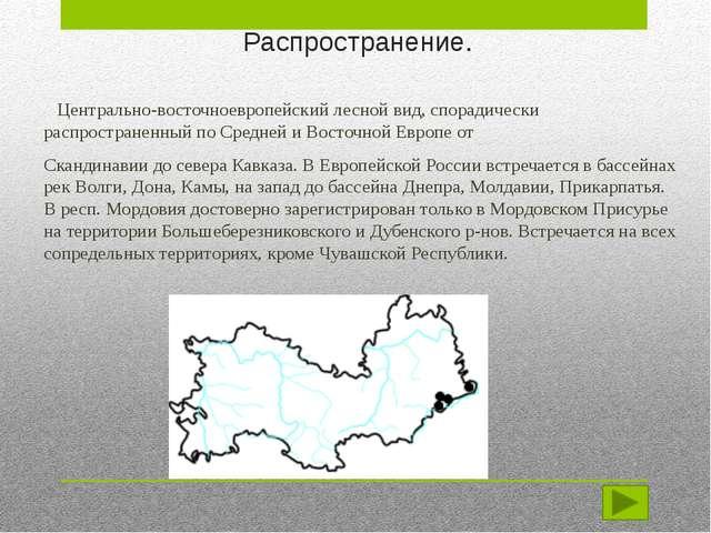 Распространение и охрана вида. Эндемик флоры Средней России, ранее известный...
