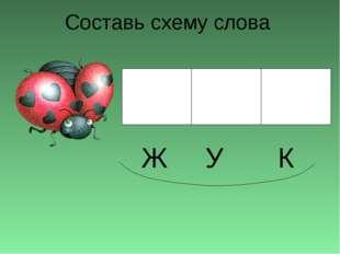 Составь схему слова Ж У К