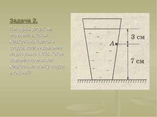 Задача 2. Пользуясь рисунком, определите, какая жидкость находится в сосуде,