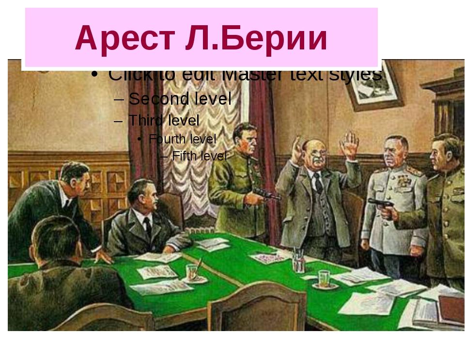 Арест Л.Берии
