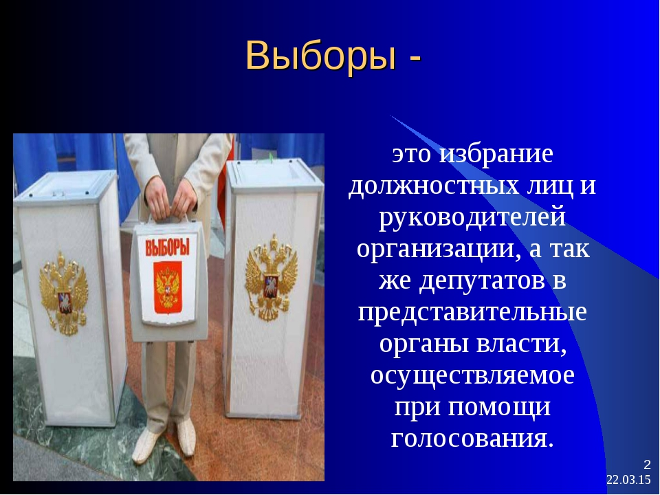 Выборы - это избрание должностных лиц и руководителей организации, а так же д...