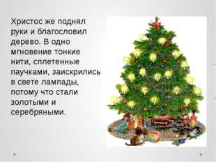 Христос же поднял руки и благословил дерево. В одно мгновение тонкие нити, с