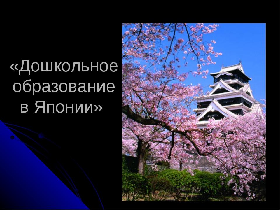 «Дошкольное образование в Японии»