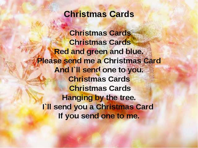 Christmas Cards Christmas Cards Christmas Cards Red and green and blue. Pleas...