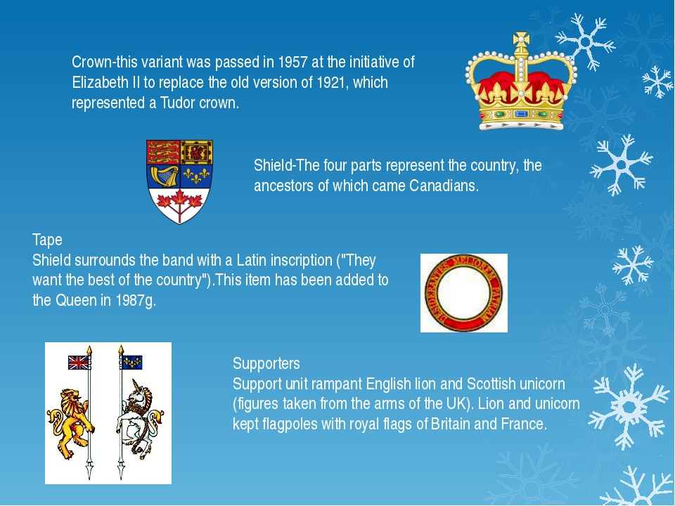 Crown-this variant was passed in 1957 at the initiative of Elizabeth II to re...