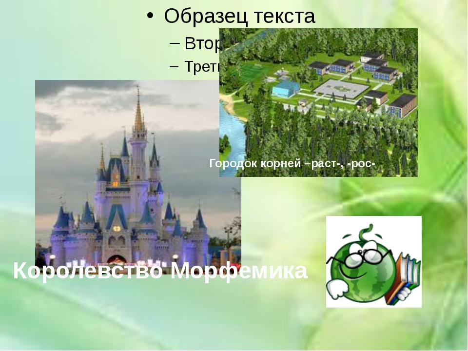 Королевство Морфемика Городок корней –раст-, -рос-