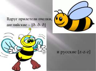Вдруг прилетели пчелки, английские – [ð- ð- ð] и русские [z-z-z]