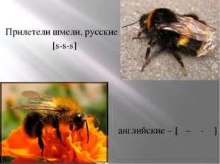 Прилетели шмели, русские – [s-s-s] английские – [θ – θ - θ ]