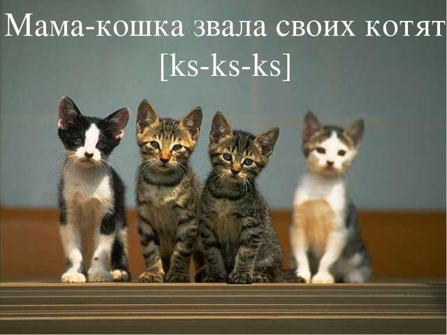 Мама-кошка звала своих котят [ks-ks-ks]