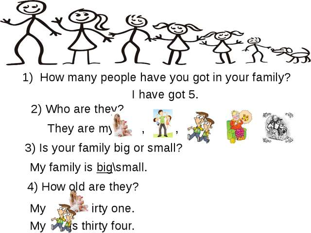 Questions & Answers How many people have you got in your family? 3) Is your f...
